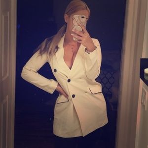 NWT Zara Cream Double Breasted Blazer